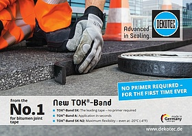 New TOK<sup>®</sup>-bitumen joint tapes