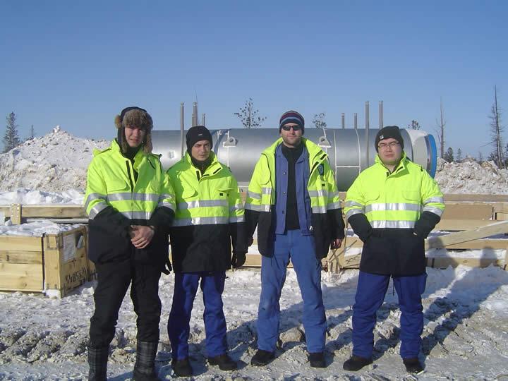 The DEKOTEC specialists in Siberia